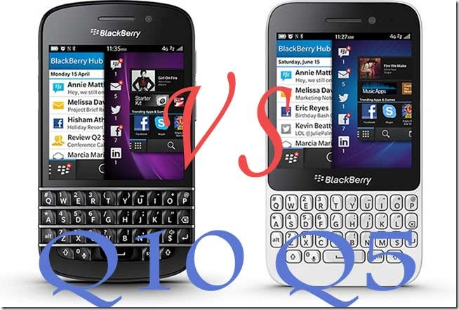 Differences between BlackBerry Q10 and BlackBerry Q5