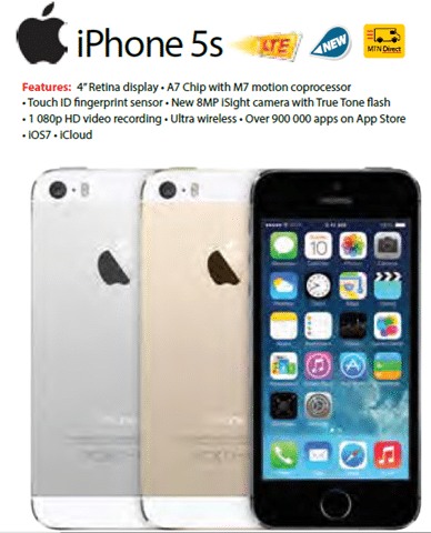 MTN Deals for the iPhone 5 range [iPhone 5, 5c and 5S]